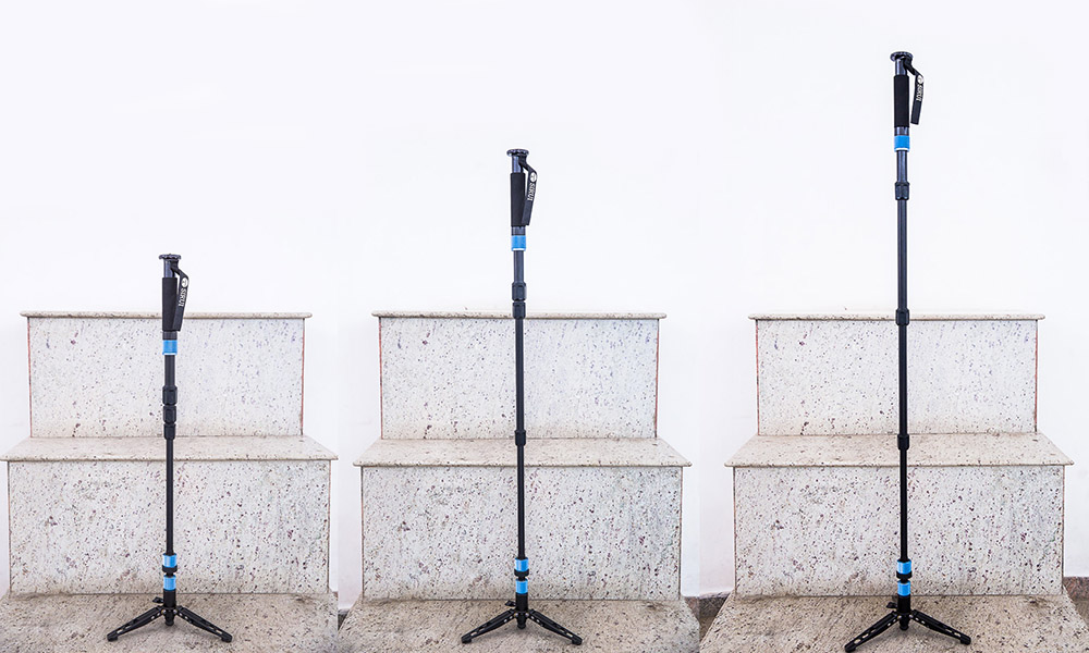 Best Video Monopod Sirui P204S at its full height