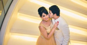 Neeta-Shankar-Candid-Engagement-Photography-Ritz-Carlton-Bangalore-India-Top-Angle-Shot